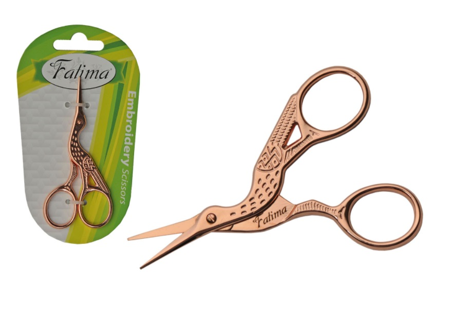 F621RG - Professional Rose Gold Stork Scissors 2.5'' ( 107720 ) z