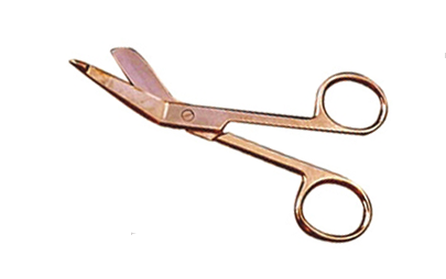 G701G -  Lister Bandage Scissors 3.5'' Gold-Plated ( 231-a )  v