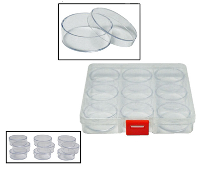 "A2SC - 9-IN-1 Round Storage Containers, Overall Size: 5-3/8"" x 5-3/8"" x 7/8"" ( 87086db ) s"