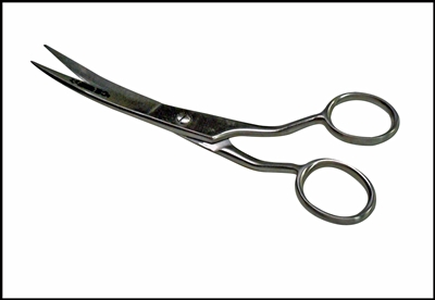 .C300PP - Curved Pet Grooming Shears 7'', Handle Curves ''Up'' ( 240-pet ) v