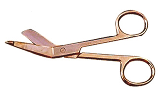G702G -  Lister Bandage Scissors 3.5'' Gold-Plated ( 231-a )  v