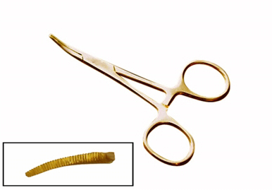 H818 - Hemostats 3.5'' GOLD Style  Curved (  955-gc 3.5''  124-c  ) m v