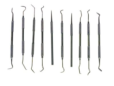 J1031SH - Deluxe Stainless Steel Probe Picks ~Assorted~1  s v
