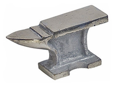J1488JA - Jewelers Chrome Plated Anvil, Dim: 5'' x 2-1/2'' x 1-1/2''  (  tj8960  8752ja ) h s