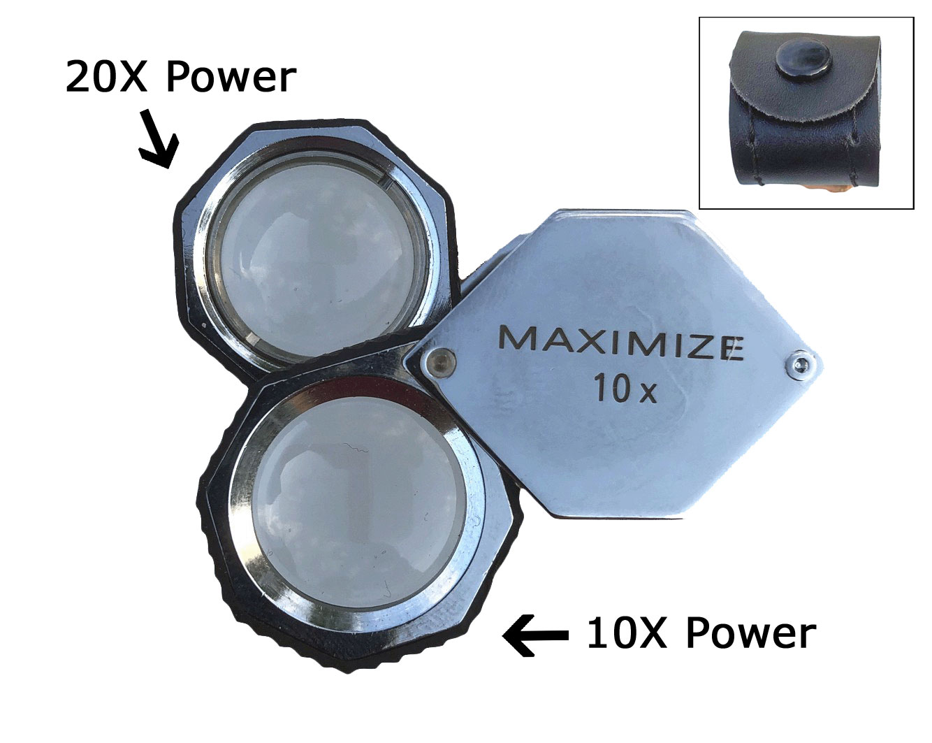 L3078C - Deluxe 30X Power Magnifier Loupe w/ Rubber Sleeve ( mg2410-20 ) h