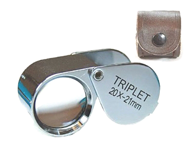 L3204 - Professional 20x 21mm Deluxe Triplet Loupe ( mg2120 MJ3921C-20X 970 ) h s