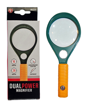 .L3227 - Dual-Lens Hand Held Magnifier 2.5x and 6x ( md258 ) s