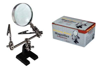 L3506 - Helping Hands 2.5'' Dia. Magnifier With Clips 2x ( mg8946 mz101 ) h s