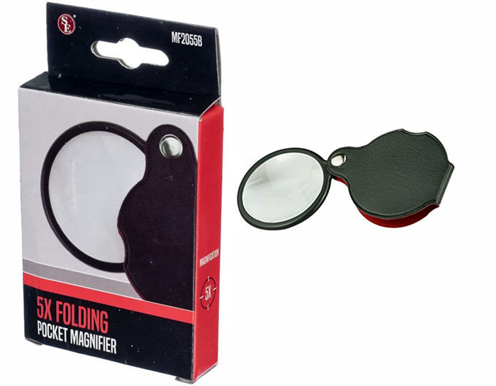 L3082T - Strong 5x Genuine Pocket Magnifier 2'' Dia ( mf2055b ) s
