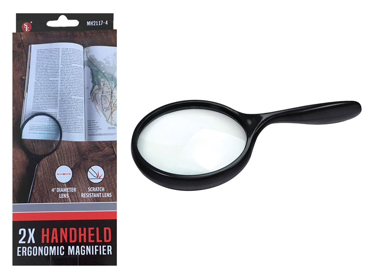 L3145DD - BIG 4'' Magnifier 2x CURVED Handle ( mh2117-4 ) s