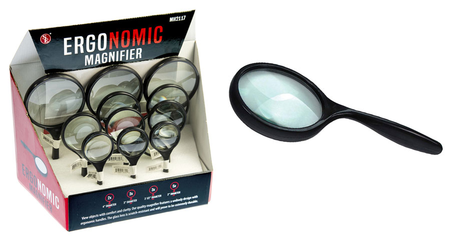 L3D - 12-PC Magnifier Set -Curved Handle ( mh2117-rh ) s