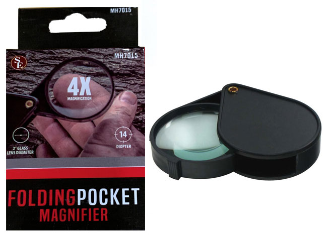 L3400F - New Handy 4x Pocket Magnifier ( mh7015 ) s