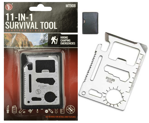 A132 - 11 in 1 Credit Card Survival Tool-Metal ( mt908 ) s