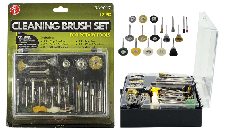 .J1034PT   17-Pc  Rotary Tool Cleaning Brush Kit, ( ra9017 ) s